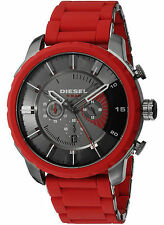 NEW Diesel DZ4384 Men's Stronghold Red Stainless Steel Watch