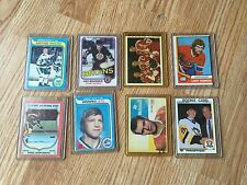 8 Old Hockey Cards Gordie Howe Bobby Hull Phil Esposito Ray Bourque Ab Mcdonald