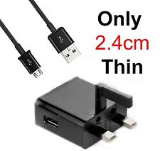 CE UK 2.4CM THIN Mains Travel AC Home Wall Charger For Samsung Galaxy Win I8550