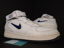 1998 Nike Air Force 1 SJ MID SC SWOOSH JEWEL NYC NEW YORK WHITE NAVY BLUE 11