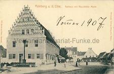 Ansichtskarte   Mühlberg (Elbe)   Rathaus mit Neustädter Markt 1907