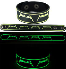 METALLICA  NEW! Bracelet Wristband gg84 Glow in the Dark/Nothing Else Matters