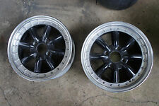 "2pc JDM 15"" Black Racing watanabe old school rims wheels ae86 SSR ke70 br"