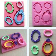 Vintage Frame Shape Cake Mold Silicone Cake Mould Fondant Chocolate Sugarcraft