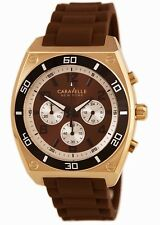 CARAVELLE NEW YORK BY BULOVA $110 MENS RUGGED CHRONOGRAPH SPORT WATCH NEW IN BOX