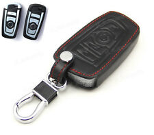 Leather Case Cover Holder For BMW 2 5 7 Series Remote Smart Key 4 Buttons X1 M5