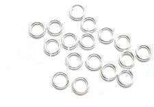 100 Silver Plated OPEN Jump Rings 5MM 20 Gauge