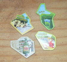 Lot de 4 magnets carte de France, excellent état