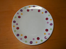 Pampered Chef Simple Addi+ions DOTS Set of 5 Salad Plates 8 in B