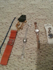 lot 7 of watches clip watch bracelet necklaces