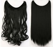 "Secret Wire Long Straight Curly Hair Extensions Real Thick As Human Hair 20"" To2"