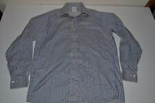 BROOKS BROTHERS 1818 BLUE YELLOW STRIPED POCKET DRESS SHIRT MENS SIZE 15 33