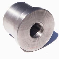 50 Cal 1.25 Inch Flanged Threaded Through Weld In Bung Great for Fab Projects !