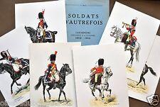 1er Empire L. Rousselot Soldats d'autrefois LES CARABINIERS 1805-1810 6 planches