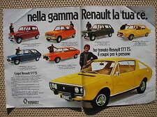 GAMMA AUTO RENAULT 1972 4 5 6 12 15 16 177 TS PUBBLICITA ADVERTISING WERBUNG