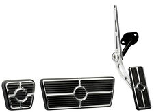 BILLET SPECIALTIES BLACK PEDAL KIT,CABLE-STYLE GAS,BRAKE,PARKING,67-69 AUTOMATIC