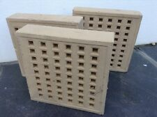 Three Sandstone Concrete House Airbricks 22x22x5 cm Building Supplies
