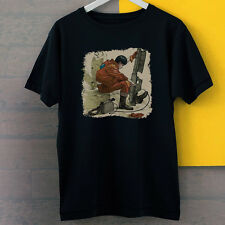Akira Kaneda With Gun Figures Anime Inspired New Black Tees T-Shirt S-3XL