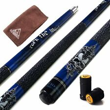 "CUESOUL ROCKIN 57"" 21oz Pool Cue Stick with Joint Protector&Blue Cue Bag"