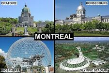 SOUVENIR FRIDGE MAGNET of MONTREAL CANADA