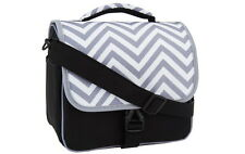 Camera Bag with Shoulder Strap for DSLR Camera & Extra Lenses GREY CHEVRON
