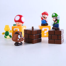 Brand New Cute Mini Figures 5PCS/Lot Super Mario Bros Figurine KidsToy Doll