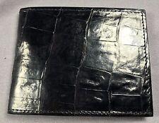 New Handmade Genuine Black Alligator / Crocodile  Skin Deluxe Bifold  Wallet 13