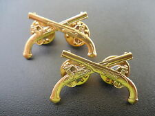 Military Police Officer Collar Brass Badge Pin US Army MP Uniform Insignia OB040