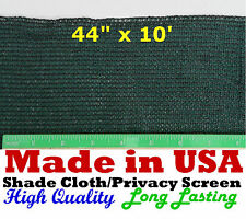 "USA  44"" x 10' 90% SHADE CLOTH PRIVACY SCREEN  POULTRY AVIARY SUN BLOCK NETTING"