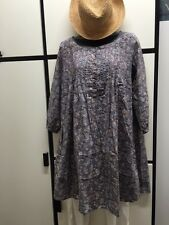 JOURNAL STANDARD FREE SIZE MULTI COLOR FLORAL COTTON PIN TUCK TUNIC DRESS