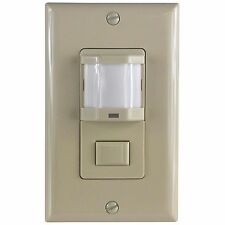 WOSS Automatic PIR Occupancy Motion Sensor Switch Manual On/Off Option Ivory
