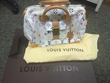 100% authentic Louis Vuitton Speedy 30 Monogram Multicolor white bag, Excellent
