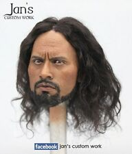 1/6 Hot CUSTOM REPAINT REHAIR toys Hercules Dwayne Johnson Rock figure head