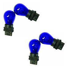 4x 3157 Blue Bright Light Bulbs Car Auto Signal Turn Backup S8 Miniature Lamp