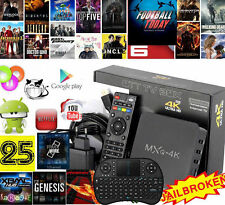 2017 Hot 4K MX Android 4.4 Smart TV BOX Fully Loaded Quad Core 8G WIFI +Keyboard