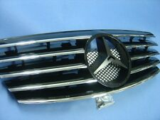 Black Front Grille Assembly For 2000-2002 Mercedes Benz W210 E-Class E320 E430