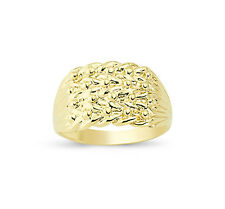9ct oro solido Keeper 4 RIGA Wide Shot Knot Anello Band Scatola Regalo