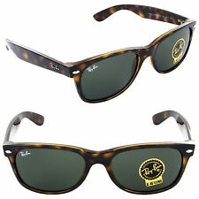 Ray-Ban RB 2132 902 52mm New Wayfarer Sunglasses Tortoise / Crystal Green  Lens