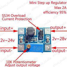 DC-DC Boost Converter 3.3v 5v 9v 12v 2A Adjustable Step Up Power Supply Module