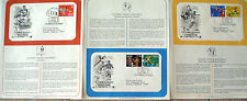 Postal Society 3 FDC's  stamps # 2553-2557 29 cent OLYMPICS TRACK & FIELD 1991