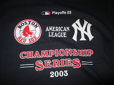 2003 American League WILD CARD Boston Red Sox vs NEW YORK YANKEES (MED) T-Shirt
