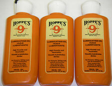 Hoppes 2.25oz Lubricating Oil Lubricant  Gun Firearm Cleaning  Hoppe's 3 pack
