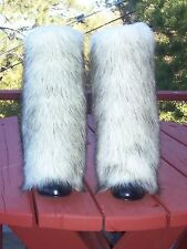 NEW LegVogue Faux Fur Leg Muffs boot-covers leggings fake white black warmers