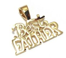 Best Father Charm / Pendant for Dad EP Gold Plated with a Lifetime Guarantee!