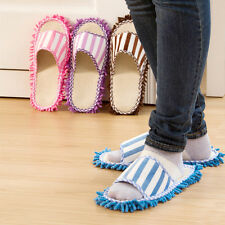2pcs Microfiber Clean Dust House Mop Floor with Cleaning Mopping Slippers Shoes