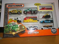 Matchbox GIFT PACK 9-Car Set w/ Mack Green Fire Engine- Exclusive Vehicle- ERROR