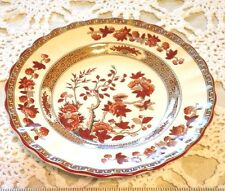"""SPODE CHINA INDIA TREE RUST/ORANGE  BREAD AND BUTTER PLATE  6.5"""""""