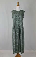 Vintage British Khaki Robert Leighton Hunter Green Pintuck Maxi Jumper Dress 6