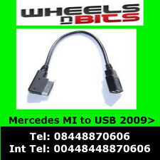 Mercedes A,B,C,E,GLK,SL,SLK class 2009 onwards USB to Media Interface Lead Cable