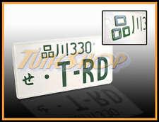 TRD JDM JAPAN ALUMINUM UNIVERSAL LICENSE PLATE TOYOTA SUPRA YARIS CELICA AE86